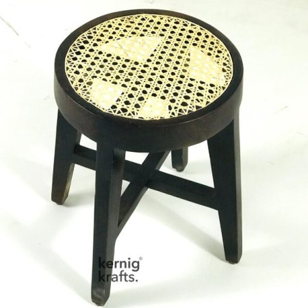 STUL59947 Rosewood Cafe Stool With Bamboo Canning