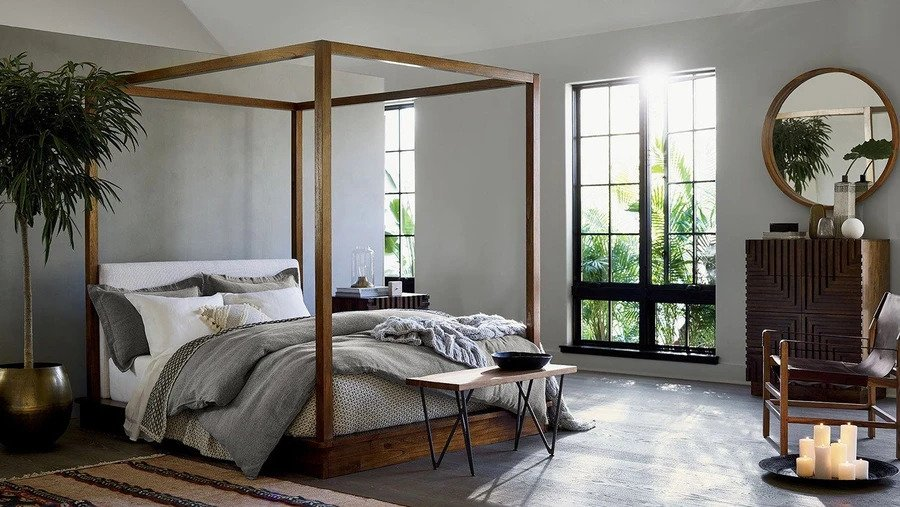 bed - wooden bed - four poster bed - upholestered bed - kernig krafts