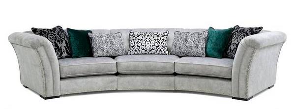 curved sofa - upholestry - kernig krafts