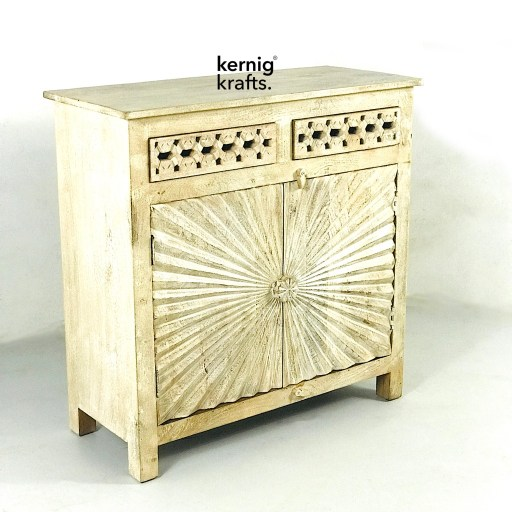 Carved Mango wood sideboard Kernig Krafts