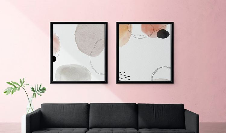 abstract art painting living room pandemic home furniture