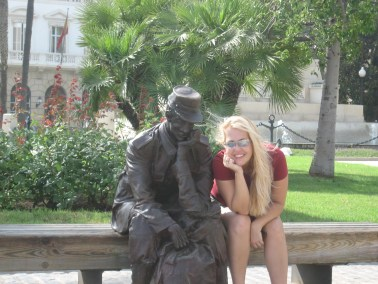 Statue of Soldier, and me in Cartagena, Spain