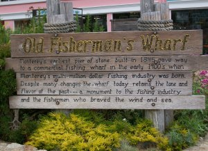 Old Fishermans Wharf sign