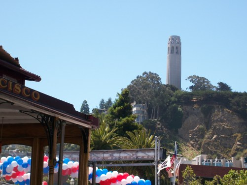 Coit Tower and Cable Car