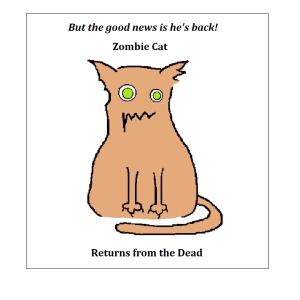 Zombie Cat Returns sympathy card