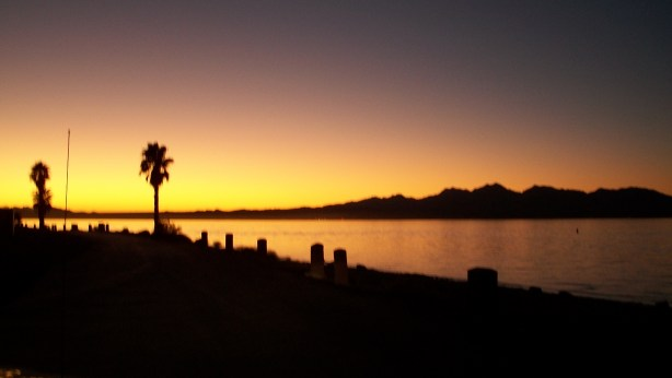 Lake Havasu, Arizona at sunset.