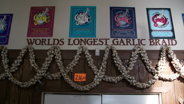 World's Longest Garlic Braid - 216 ft