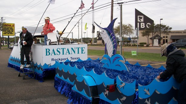 Bastante, Rockport, Texas Oysterfest float.