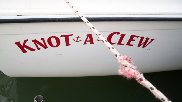 The sailboat Knot A Clew.