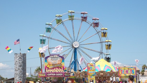 A Ferris wheel at the Aransas Pass Shrimporee.