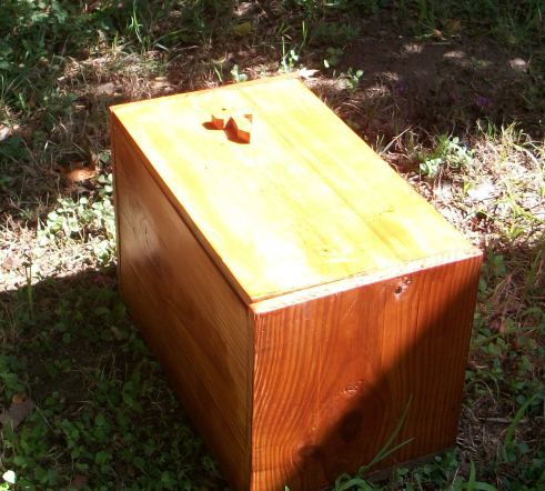 The beautiful cedar box made by Ranger Jerry.