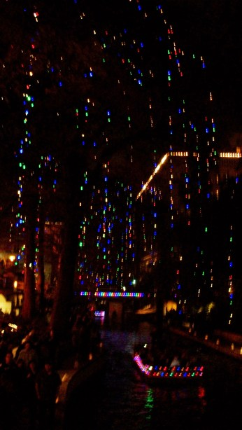 San Antonio Riverwalk at Christmas.