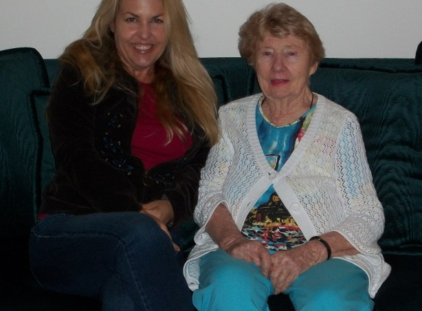 My grandmother and me in 2011.