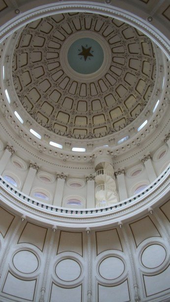 The inside of the Capitol Building dome.