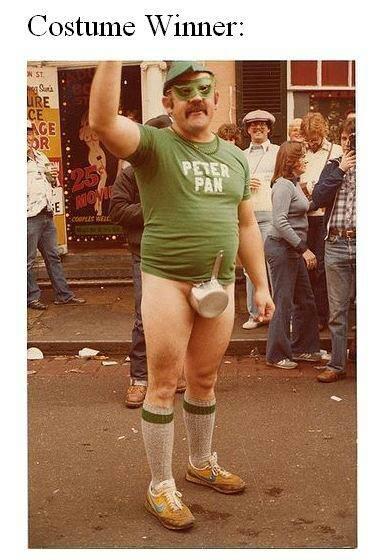 Peter Pan costume.