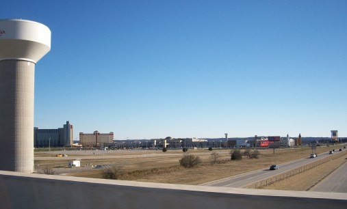 View of WinStar Casino from an overpass.