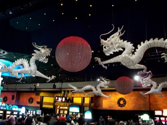 Bling dragons at WInStar.