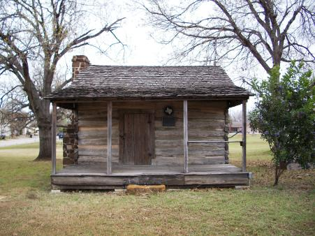 Old-style cabin, also in the park with the oil stuff. I read the plaque, but don't remember what it said.