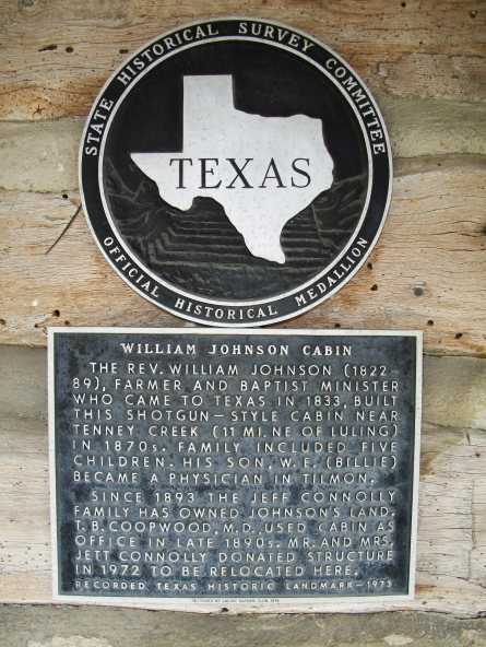Here's the plaque that tells about the cabin. I didn't read it, but got you this photo so you could. I'm thoughtful that way.