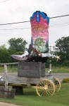 Giant cowgirl boot in Bastrop, Texas.
