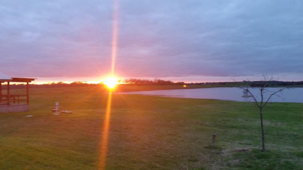 A Texas sunset.