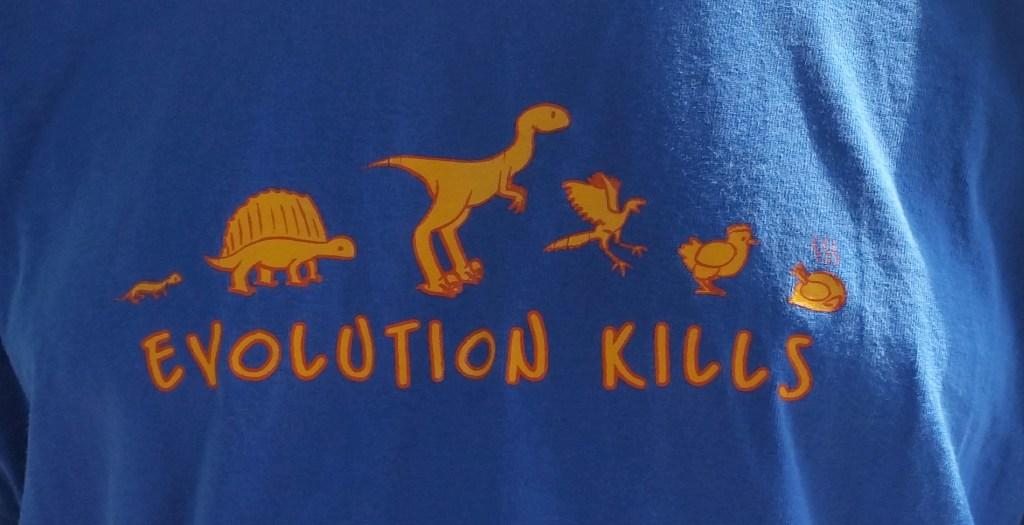 Evolution kills... note the chicken.