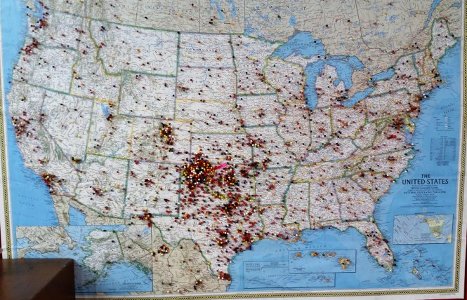 Map of visitors to the Museum of the Plains.