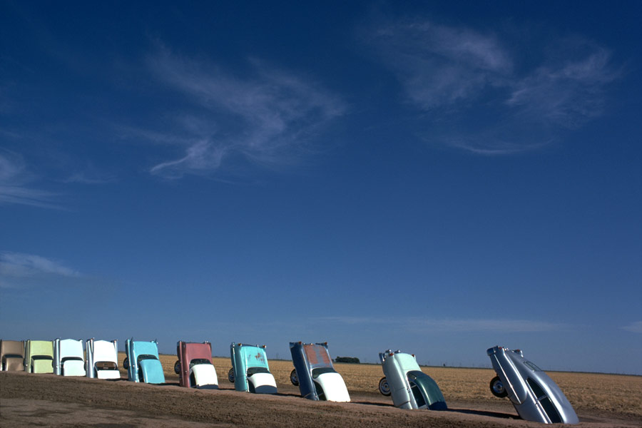 Cadillac Ranch in 1974