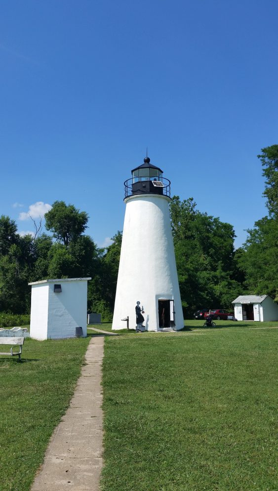 Turkey Point Lighthouse on Chesapeake Bay.