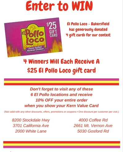Contest_ El Pollo Loco Gift Cards for CC