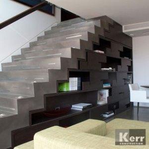 Staircase space saver idea