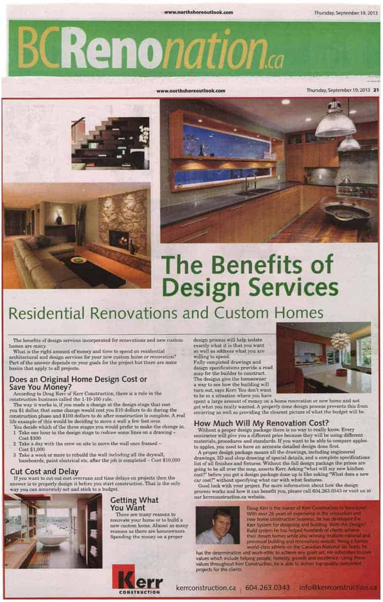 design services by Kerr Construction