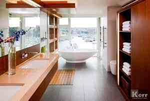 Bathroom Floor to Ceiling Windows