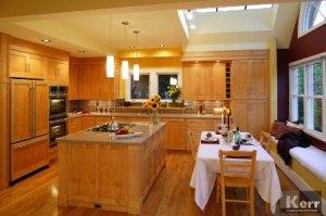 clever kitchen renovations can include a hidden fridge kerr