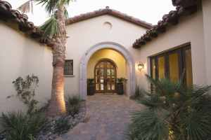 hacienda style entrance