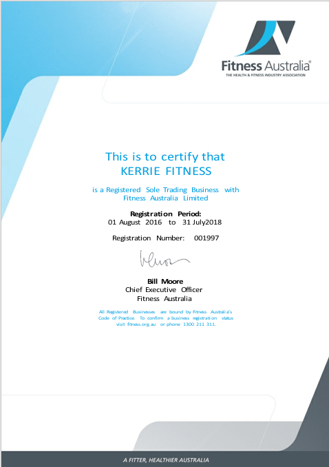 Kerrie Fitness Registration