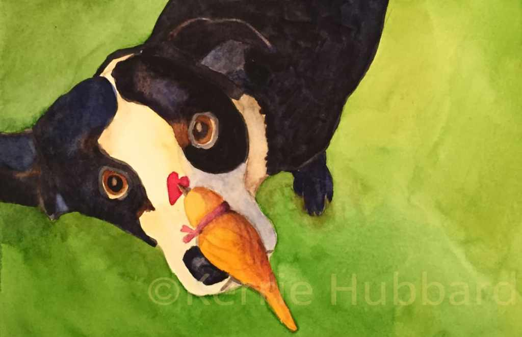 Fredrick's Secret Admirer | Original Watercolor | Kerrie Hubbard