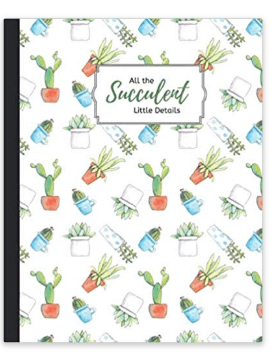 All the Succulent Little Details Notebook