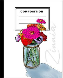 Zinnia Composition Notebook