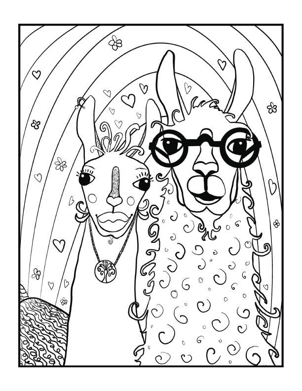 Hipster Llama Couple