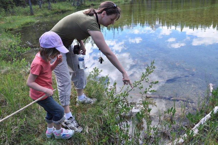 The Kananaski frog pond and the huge fffing fish…