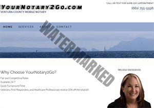 yournotary2go.com website by KerriMarvelMarvelServices.com screenshot