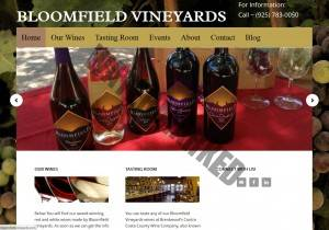 BloomfieldVineyards.com by Kerri Marvel screenshot