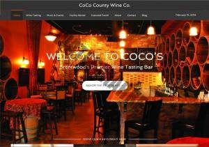 cocowineco.com website by Kerri Marvel screenshot