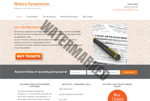 Notary Symposoium website by Kerri Marvel-screenshot