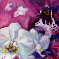 """Orchids Advance, oil, 24x24"""""""