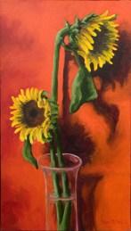 "Sunflowers, 18x32"""