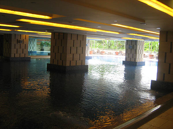the Olympic Village hotel is incredible, including this indoor/outdoor pool