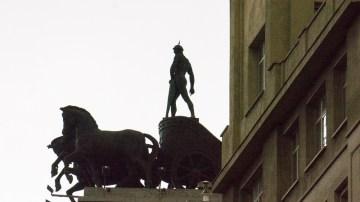 4 Horse chaariot on top the BBVA Bank Building