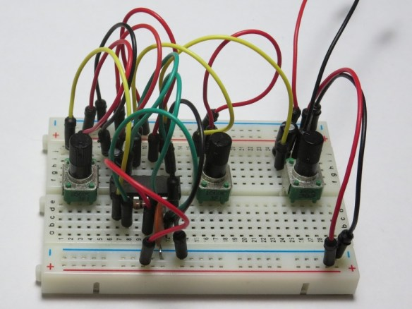 Atari Punk Console on Breadboard using Jumper Wires
